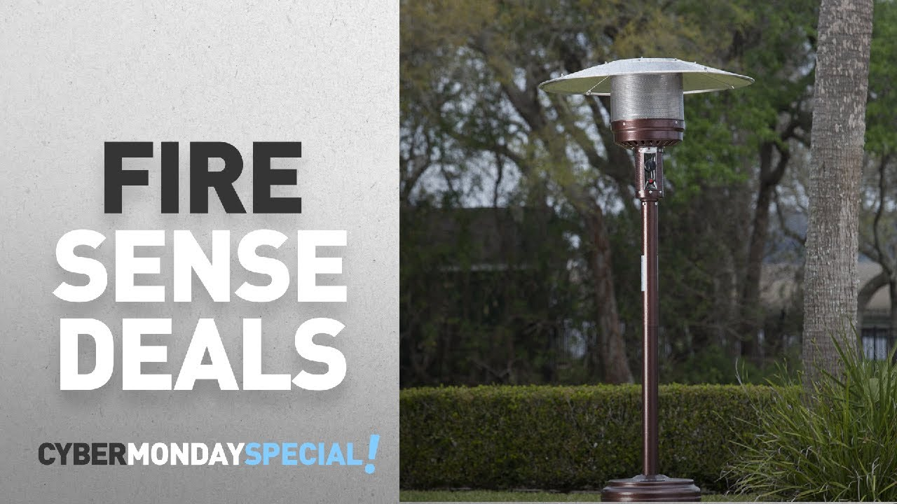 Top Cyber Monday Fire Sense Deals: Fire Sense Hammer Tone Bronze Commercial  Patio Heater