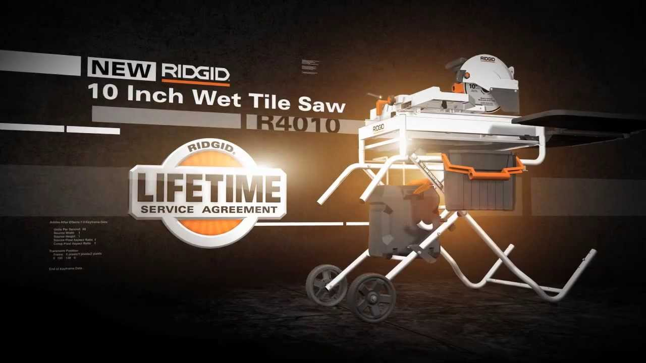 Ridgid 10 Portable Tile Saw The Home Depot Youtube