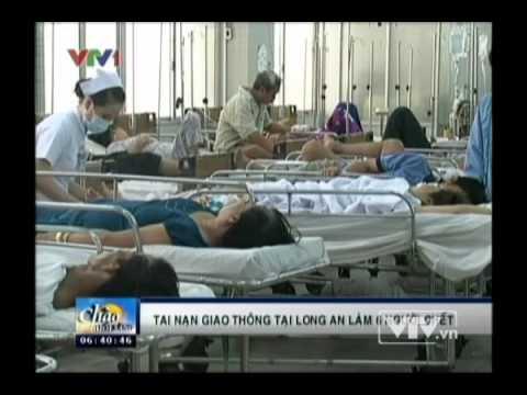 Tai nạn giao thông nghiêm trọng tại Long An  Video - Đài truyền hình Việt Nam