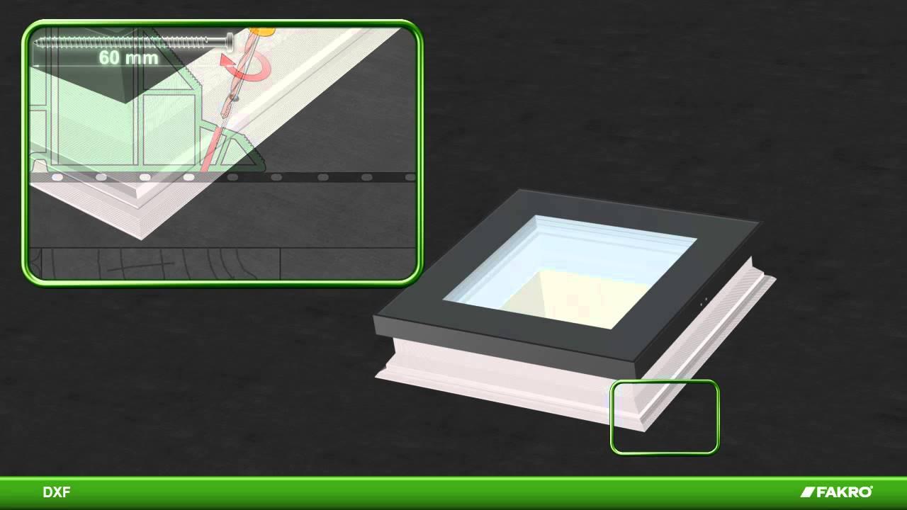 fakro fen tre de toit dxf fen tre pour toit plat youtube. Black Bedroom Furniture Sets. Home Design Ideas