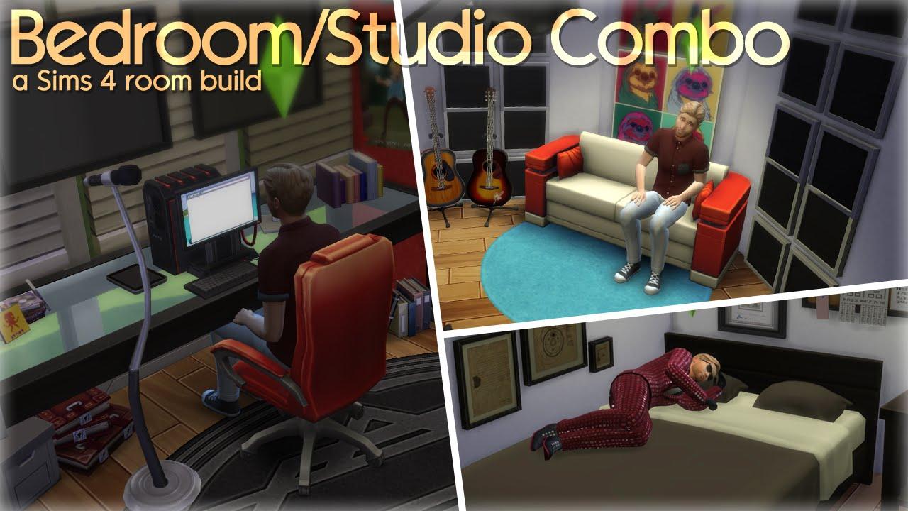 bedroom/studio combo | the sims 4 room build - youtube
