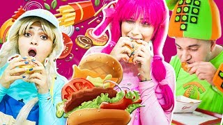 يويو ودودي وفوني في مطعم الهامبرغر  - yoyo dodi in the hamburger restaurant