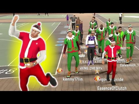 SANTA IN THE PARK!?! CHRISTMAS SPECIAL NBA2K17