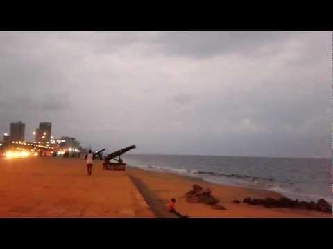 beautiful evening in Colombo beach sir Lanka