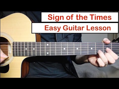 Harry Styles Sign Of The Times Guitar Lesson Tutorial How To