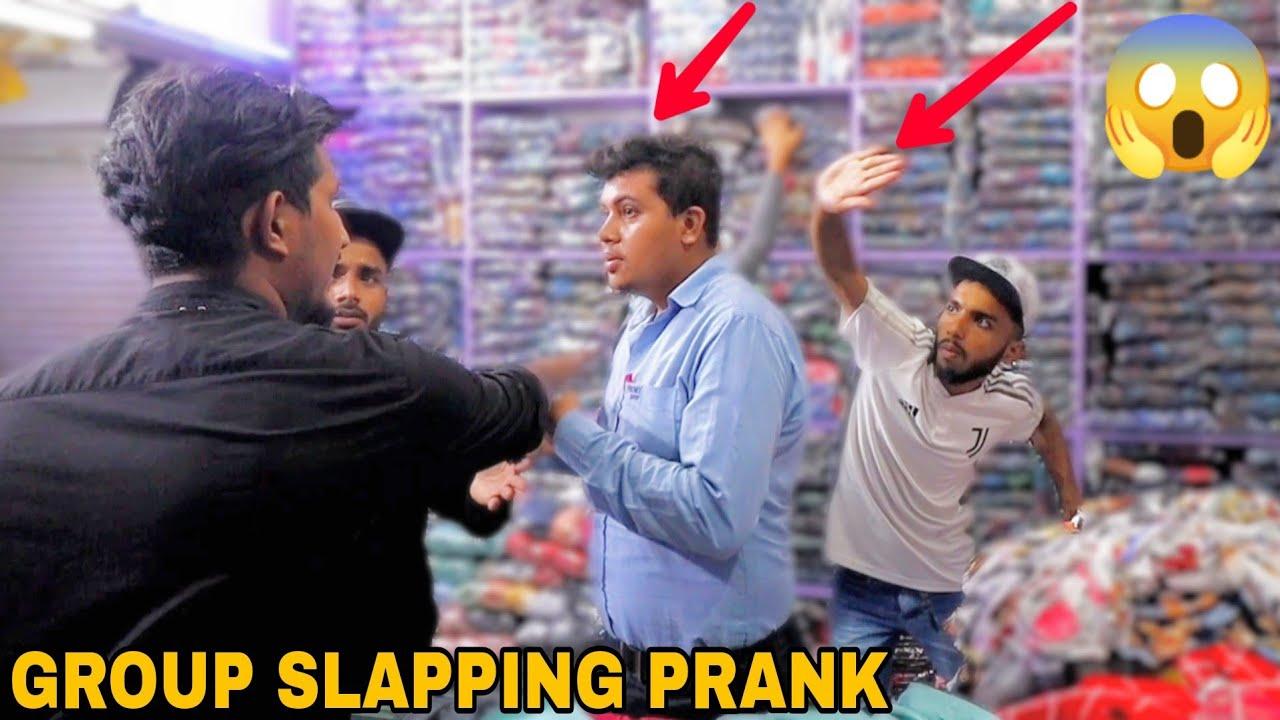 Group Slapping Prank ! || MOUZ PRANK