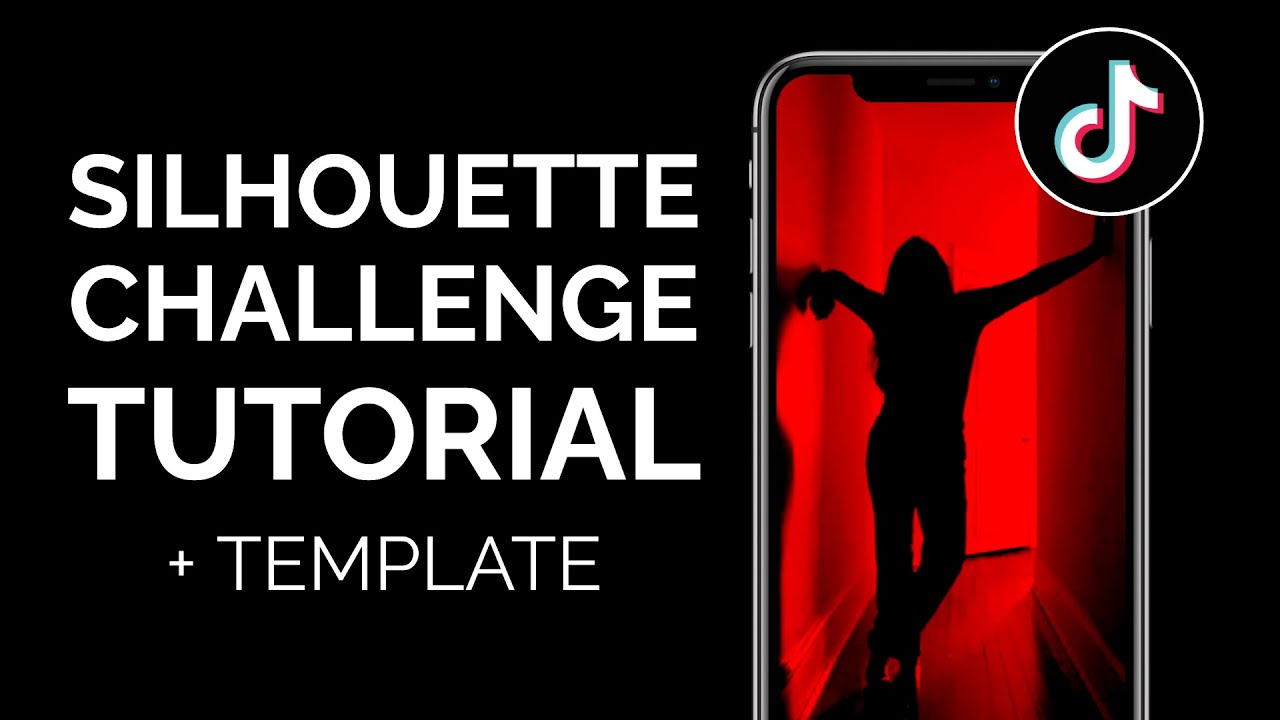 How To Do The Silhouette Challenge On Tiktok Red Silhouette Trend Filter Youtube