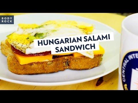 Готовим быстро бутерброд с салями