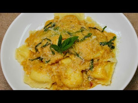 Cheese Ravioli in Pumpkin Sauce with Cucina Antica | Michael's Home Cooking