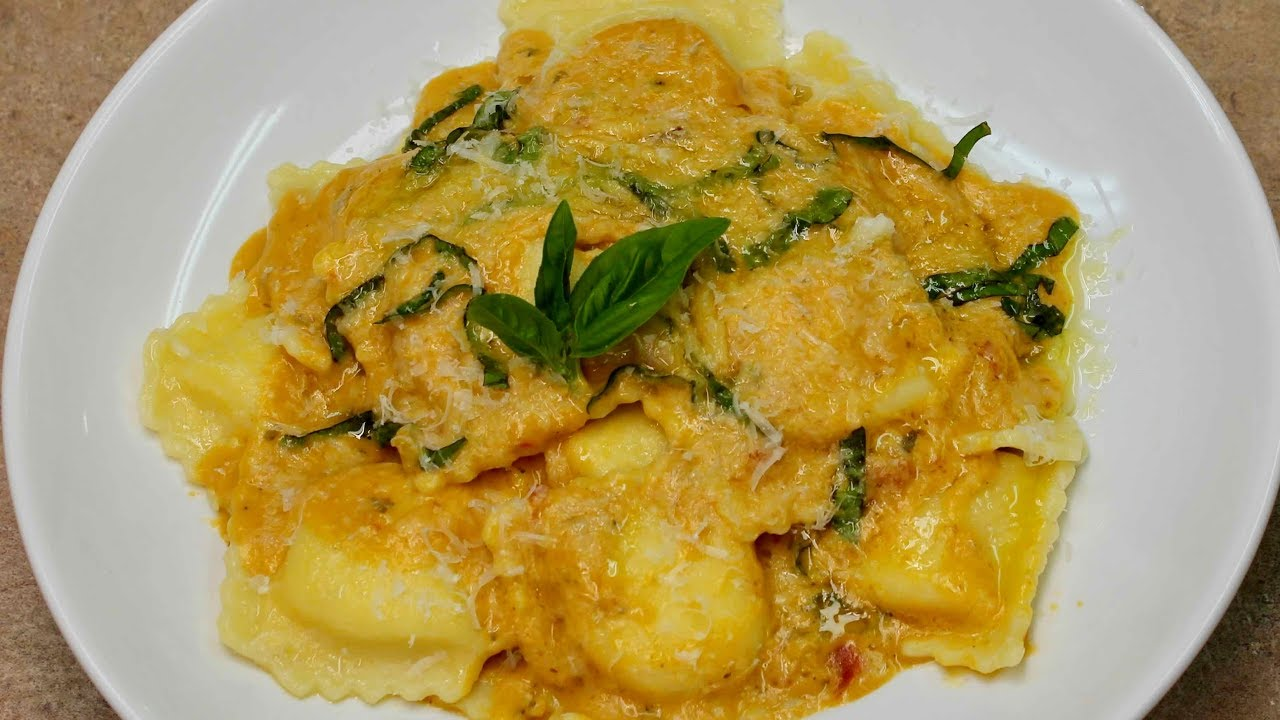Cucina Antica Sauce Cheese Ravioli In Pumpkin Sauce With Cucina Antica Michael S Home Cooking