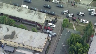 Man armed with gun leading LAPD on stop and go chase in South Los Angeles.