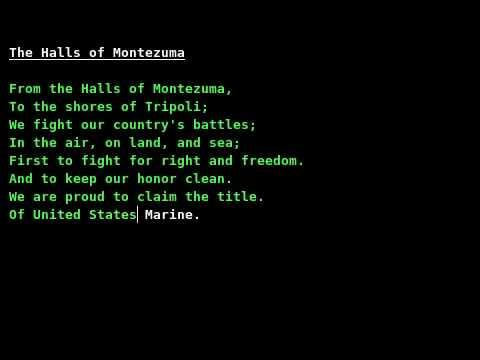 USMC Hymn