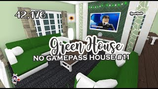 ROBLOX │Bloxburg - [SpeedBuild] No Gamepass House #11 | Green House
