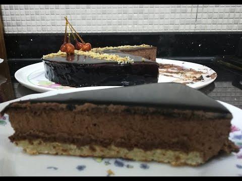 recette-gateau-royal-chocolat-avec-son-glaÇage-miroir-ترييانون-بالشوكولاطة