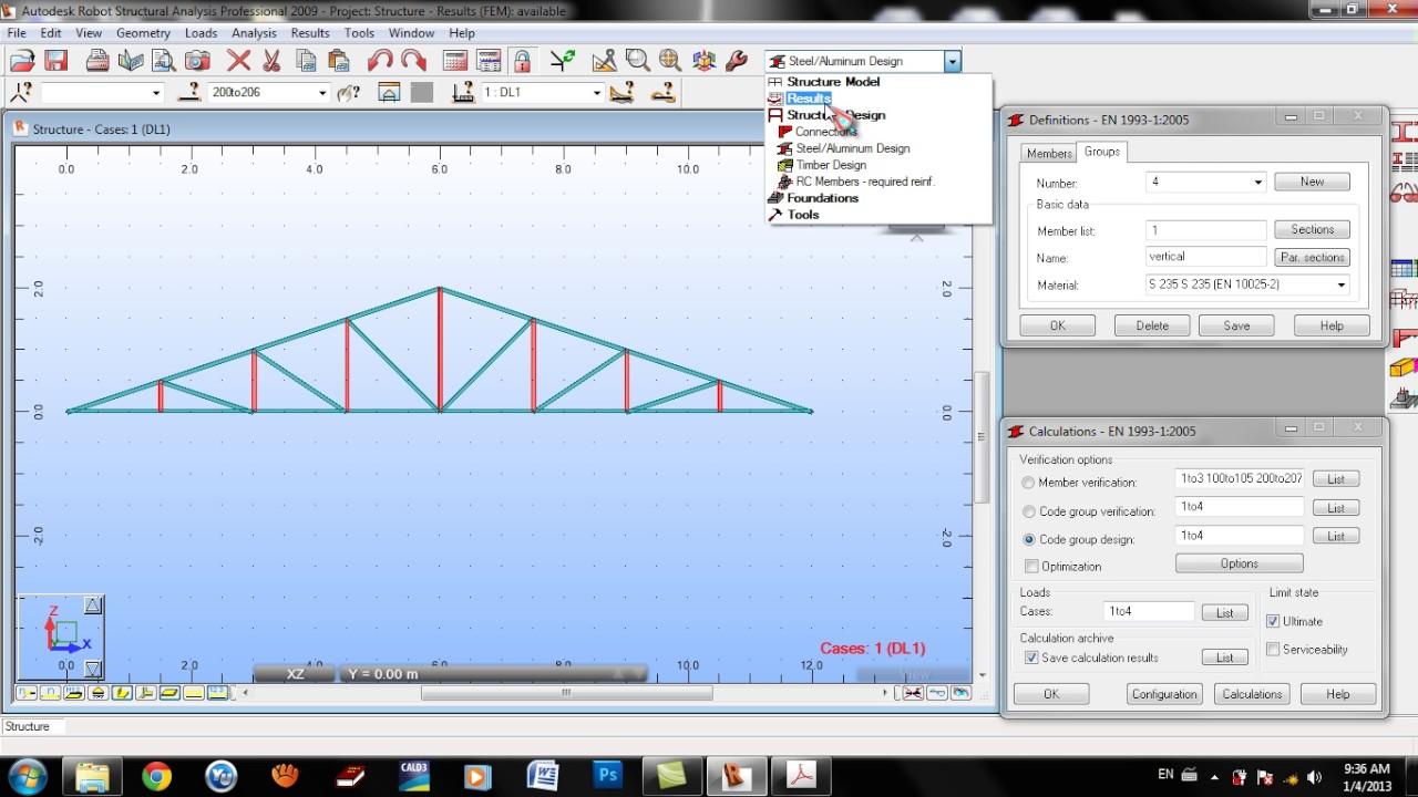 Autodesk robot truss design