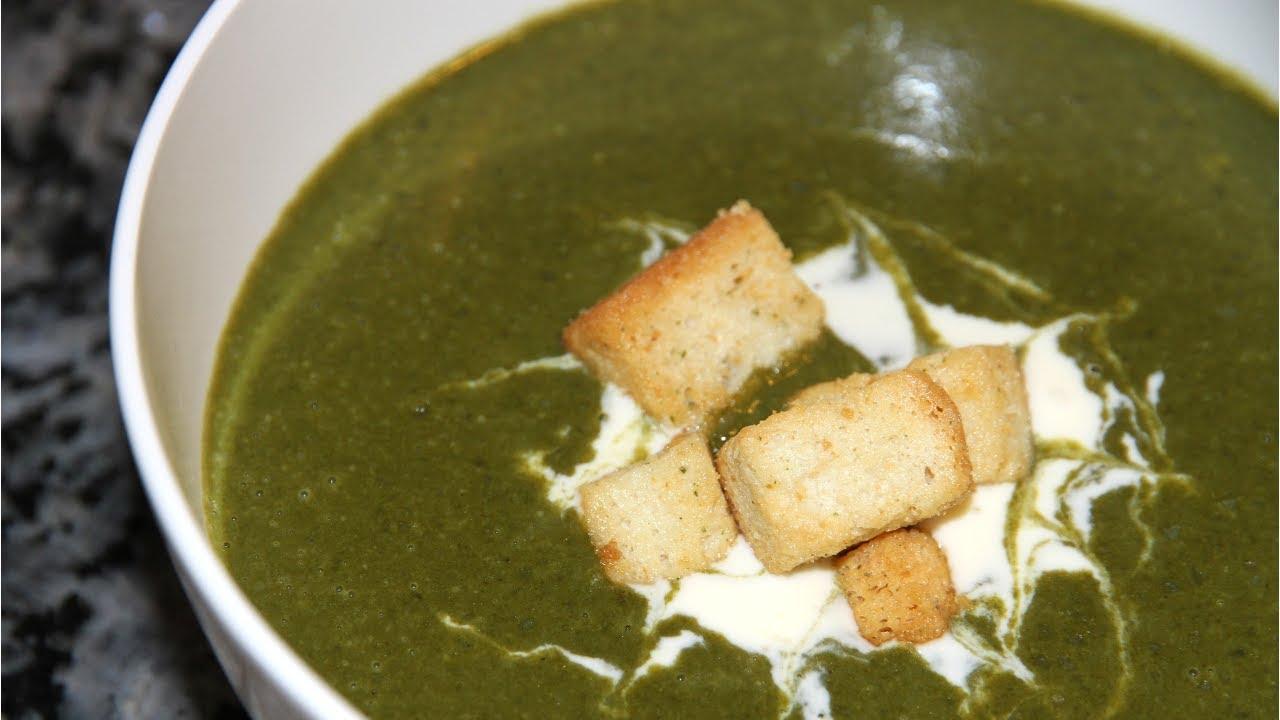 Вкуснейший крем-суп из шпината по рецепту Джулии Чайлд.Французская кухня.