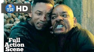 Gemini Man Hindi Fight With Clone Full Action Scene MovieClips