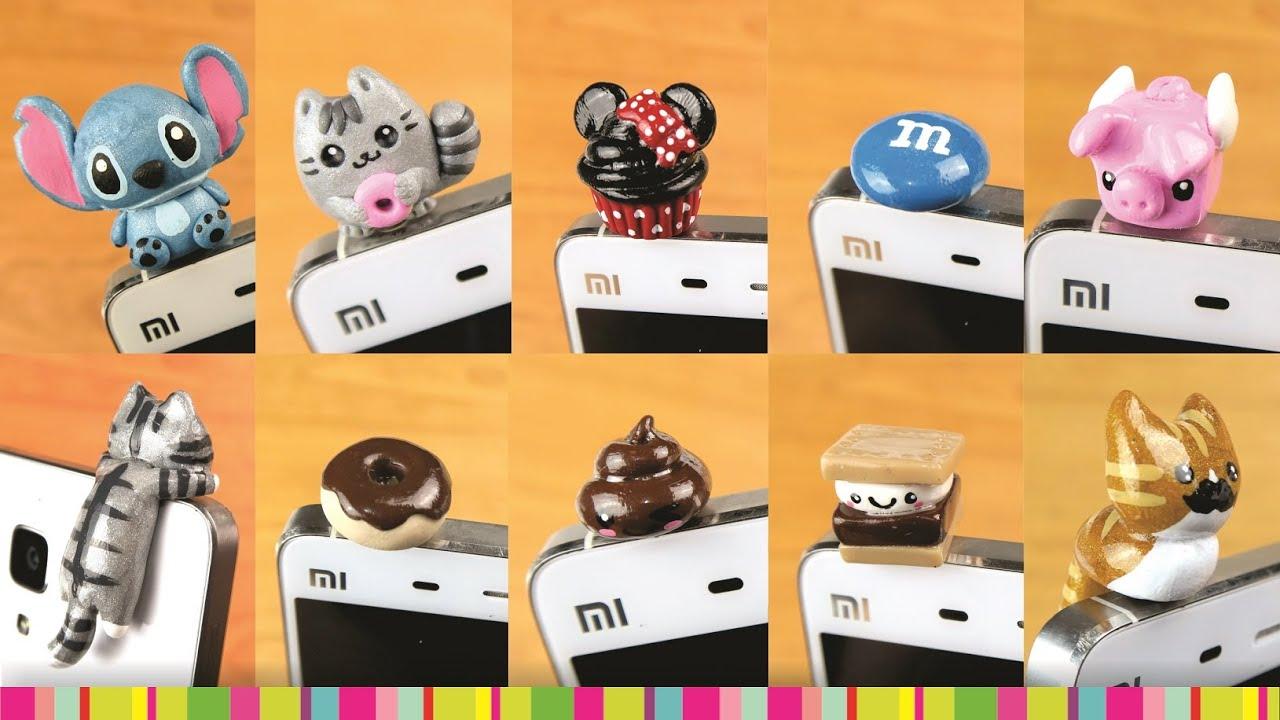 Medio m s de 10 decoraciones para tapones de celular youtube - Donde comprar fundas para moviles ...