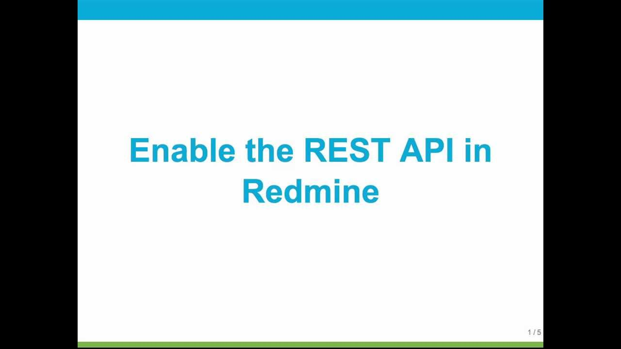 Howto Enable the Redmine REST API