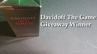 Davidoff The Game Giveaway Winner