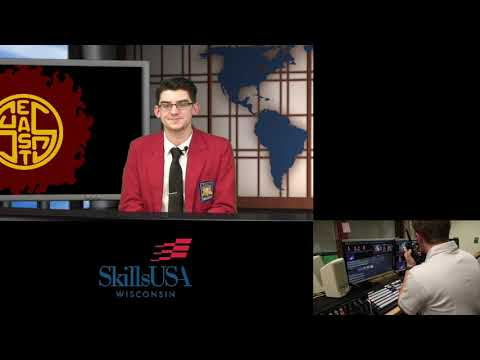 SkillsUSA Wisconsin - Broadcast News Production State Competition 2018 - West Bend High School