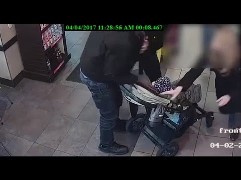 Watch Man Try To Kidnap Baby In Stroller at Dunkin