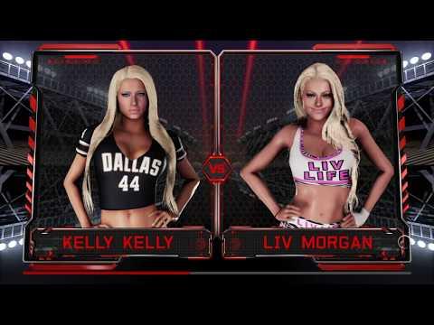 WWE 2K18 Kelly Kelly vs Liv Morgan