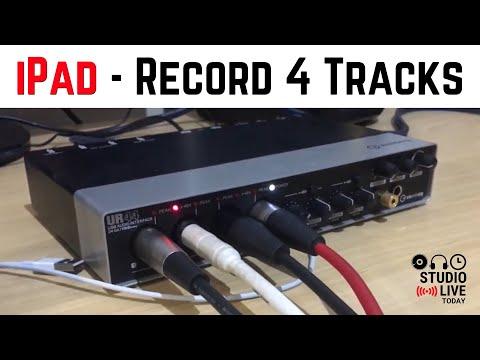 4 Input Recording in GarageBand iOS - Using multitrack recording in GarageBand iOS (iPad/iPhone)