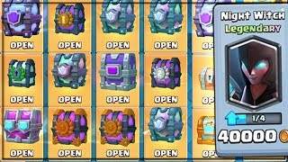 OPENING EVERY CHEST IN CLASH ROYALE!  All Chests Opening & x4 NEW NIGHT WITCH LEGENDARIES!!