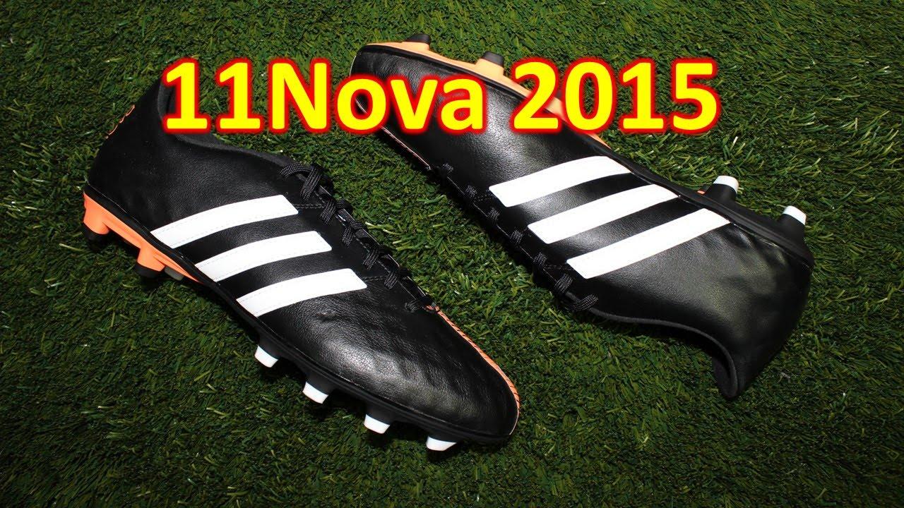 adidas 11nova 3 schwarz / orange überprüfung   auf füße youtube -