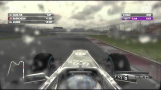 F1 2011 (1080p) Light Rain Williams Istanbul Gameplay