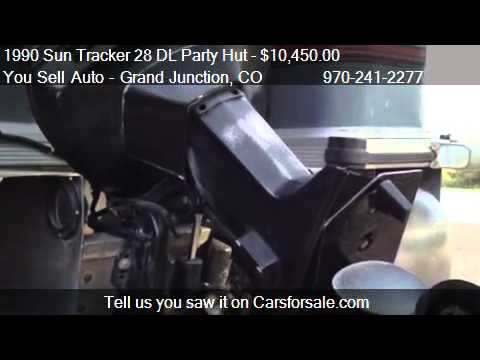 Sun Tracker Party Hut >> 1990 Sun Tracker 28 DL Party Hut Pontoon Boat - for sale in - YouTube