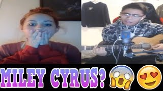 YOUNOW SINGING   IS THAT MILEY CYRUS? [LIT REACTIONS] [2017]