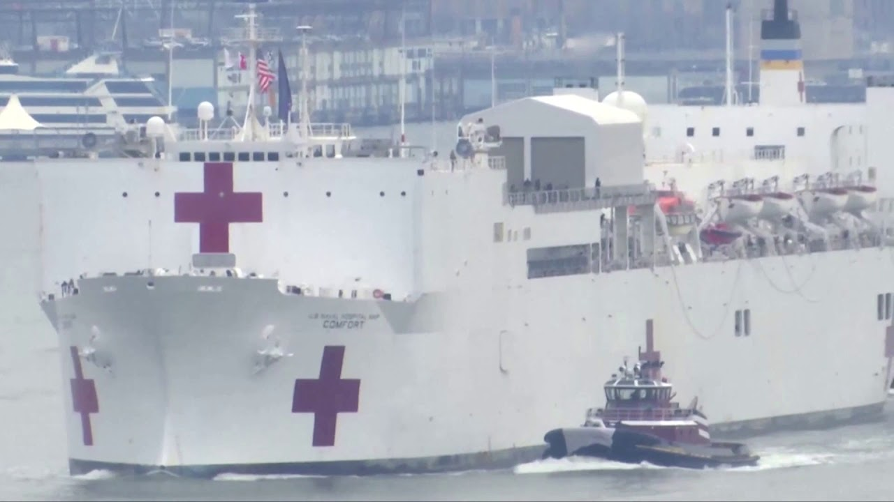 U.S. Navy hospital ship arrives in New York