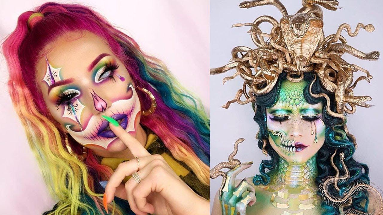 10 Cool Halloween Makeup IDEAS 👻😱👻 Special Effects Makeup Ideas