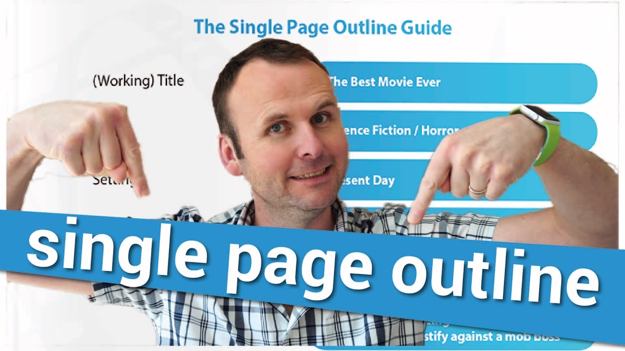 get your movie script read the single page outline youtube
