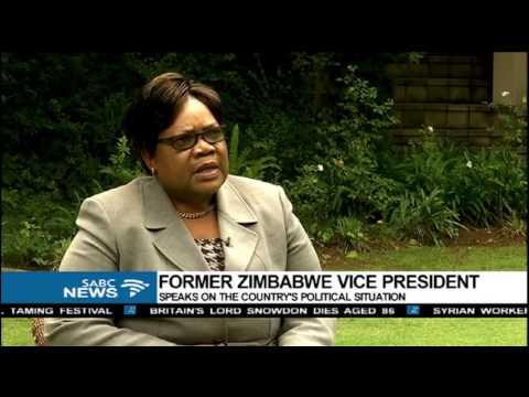 INTERVIEW: Former Zimbabwean vice-president Dr Joyce Mujuru