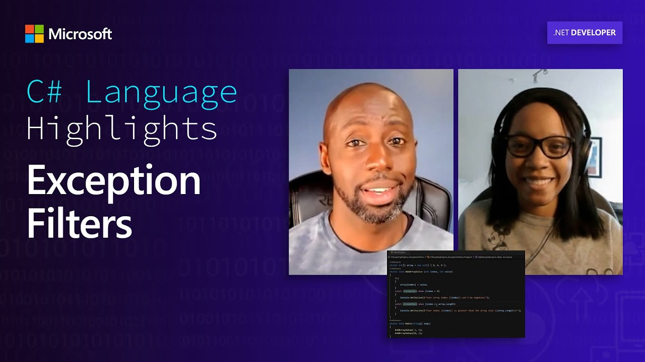 C# Language Highlights: Exception Filters