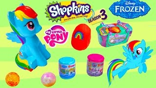 MLP Rainbow Dash Toy Blind Bag Surprise Playdoh Egg Shopkins Season 3 Fash'ems Disney Frozen LPS
