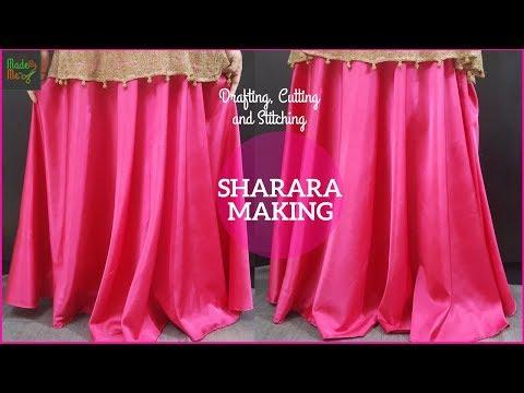 Sharara Cutting and Stitching in Hindi/Urdu