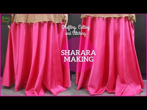 Sharara Cutting and Stitching in Hindi/Urdu