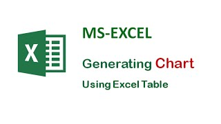 MS-Excel Tips and Tricks - Generating Chart Using Excel Table