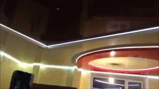 Двухуровневый натяжной потолок со светодиодной подсветкой(Двухуровневый натяжной потолок со светодиодной подсветкой., 2016-04-19T21:53:43.000Z)