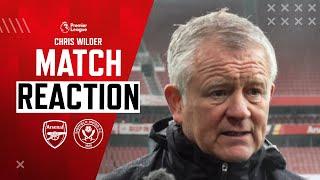 Chris Wilder Match Reaction Interview   Arsenal 2 - 1 Sheffield United