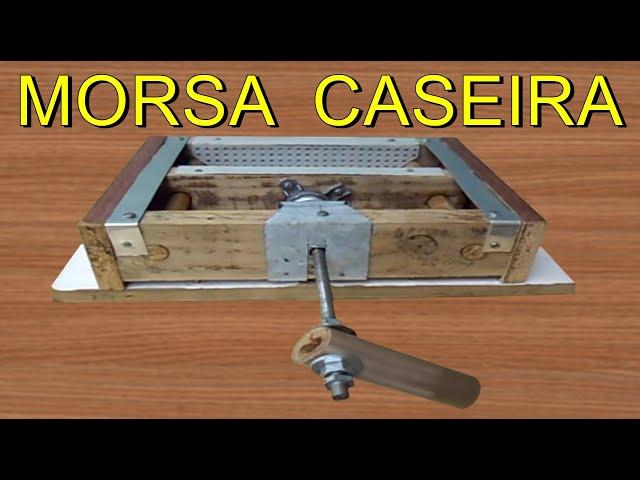 COMO FAZER MORSA DE BANCADA CASEIRA, TORNO, TORNILLO DE BANCO/ RECICLAGEM PASSO A PASSO / LATHE