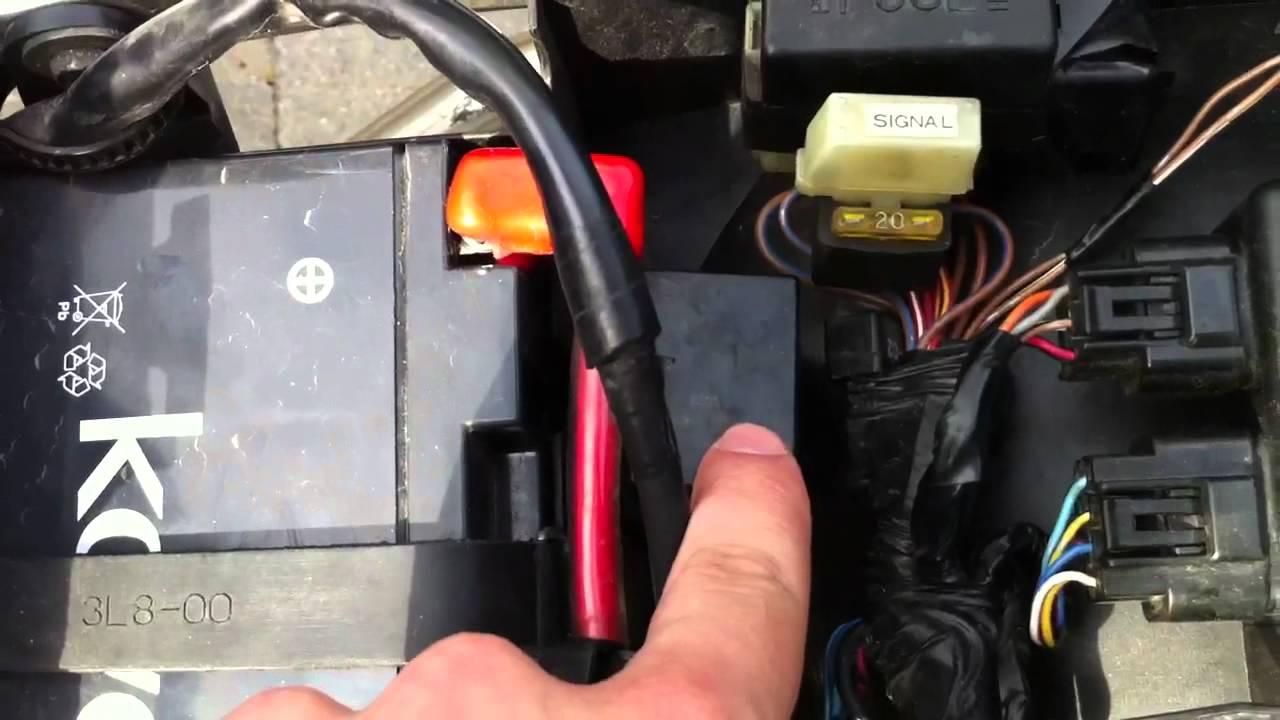 99 Yamaha R6 relay problem  YouTube