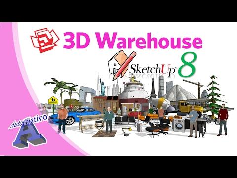 Como Baixar Componentes do 3D Warehouse para o SketchUp 8