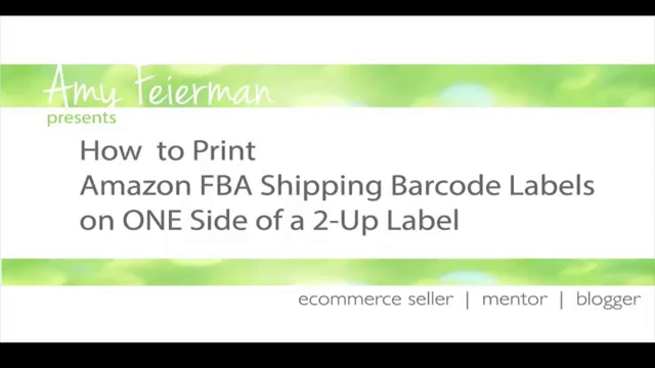 AMAZON SELLER DOWNLOAD PRINT SHIPPING LABEL