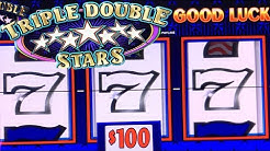 $10,000 HIGH LIMIT ★ TRIPLE STARS ★ JACKPOT HANDPAY ➜ CLASSIC SLOT MACHINE