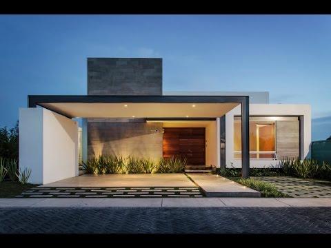Casa moderna de un piso y tres dormitorios youtube for Fachadas modernas para casas pequenas de una planta